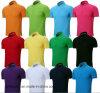 T-shirt unisexe fait sur commande en gros de coton, chemise de polo avec le logo