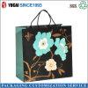 Recentemente saco de compra azul do papel do saco de papel da flor do projeto