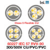 60227 la Chaleur-Resistant du CEI 57 (RVV-90) 300/500V Ordinary Flexible Cu/PVC/PVC Electrical Wire