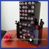 Support acrylique de rouge à lievres de vente chaude de fournisseur de la Chine/support acrylique de lustre de languette avec deux balais/stand cosmétique 2016