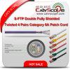 構造Cabling S/FTP Double Fully Shielded Twisted 4 Pairs Category 6A Patch Cord