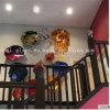 De veelkleurige Kunst Geblazen Decoratie van de Muur van de Schotel van de Ambacht van het Glas