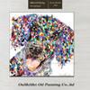 Pretty Dog Knife Peinture à l'huile Big Ears and Yelling Abstract Pet Dog Peinture à l'huile peinte à la main dans la toile