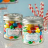 100ml 3oz Cylinder Fancy Candy Glass Mason Jar