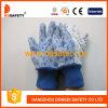 Blumen-Baumwollgarten-Handschuhe mit Minipunkten auf Palme Dgs306