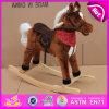 Cavalo de balanço de madeira da venda 2015 quente, brinquedo de madeira do cavalo de balanço dos cabritos, cavalo de balanço de madeira barato W16D066