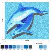 Mosaico del vidrio de los pescados del cuadro de Patttern de la piscina del delfín