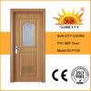 PVC intérieur de Frosted Glass Price Bathroom Door avec Window (SC-P128)