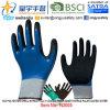 el nitrilo del shell del poliester 13G cubrió completamente interno, guantes externos cubiertos palma del nitrilo de Sandy (N2005) con el CE, En388, En420, guantes del trabajo
