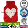Coperchio caldo della bottiglia di acqua della pelliccia della peluche del regalo del biglietto di S. Valentino del cuore del CE