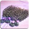 El pelo humano de calidad superior puede ser el tejer natural teñido del pelo rizado de Brown