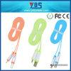 Цветастый кабель данным по мобильного телефона кабеля USB Micro для iPhone Samsung HTC Xiaomi