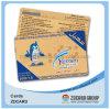 Cartão personalizado do risco do plástico laminado da tinta cartão UV