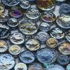 Mosaico di vetro Iridescent (miscela nera dei tondi)