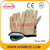 Желтый Cowhi кожа с Джерси Промышленная безопасность теплая зима Рабочие перчатки (12303)