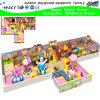 Campo de jogos interno encantador dos desenhos animados do castelo das crianças (H15-6024)