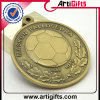 2D Metal Medal con Plated Antique Brass