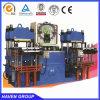Caucho automático y silicio que hacen a prensa de vulcanización de la máquina