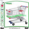 Chariots de achat galvanisés par supermarché européen à type