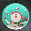 Plat en céramique peint à la main de bonhomme de neige de vaisselle de Noël (GW1291)