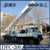 Pleine plate-forme de forage hydraulique montée par camion portatif de puits d'eau Dfc-200