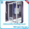 Porta de dobradura automática de vidro do frame de alumínio