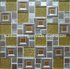 Glass Mix Stainless Steel Metal Mosaic Tile (SM238)