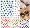 Etiquetas coloridas na moda do 3D da água das unhas da arte Etiqueta da unha