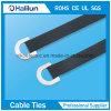 304 d-Typ Edelstahl-Kleber-überzogener Kabelbinder