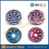 Le diamant usine la roue molle de cuvette de diamant de corps pour le marbre et le granit