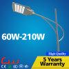 iluminación al aire libre de acero del brazo 120W LED de los 8m poste sola