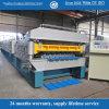 Améliorer le roulis en métal de Double couche de structure formant la machine