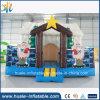 Neue Produkt-aufblasbares Weihnachtshaus, aufblasbares federnd Schloss