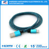 마이크로 USB 데이터 케이블에 3.3FT 파랑에 의하여 땋아지는 AM