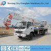 Hidráulica de 10 toneladas de grúa móvil con camiones