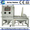 Gabinete manual de chorro de arena con carretilla manual y plataforma giratoria para moldes