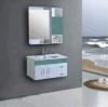 Vanità calda 2016 (BC-059) della stanza da bagno dell'impiallacciatura del PVC di vendita