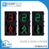 200mm poteaux de signalisation un de Digitals noirs piétonniers verts rouges de compte à rebours