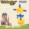 Brinquedos da instrução para 3-6 brinquedos do bloco de apartamentos das crianças dos miúdos