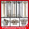 Coluna romana cinzelada da coluna do suporte do material de construção mão de pedra de mármore