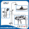 2016 Unique Design Round Tube Chrome-Plated Bathroom Conjunto de chuveiro de bronze