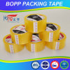 Cinta adhesiva amarillenta de BOPP para el embalaje