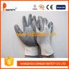 guantes cubiertos nitrilo gris de nylon blanco Dnn338 del trabajo 13G