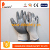 Ddsafety 2017 guantes cubiertos nitrilo gris de nylon blanco del trabajo 13G