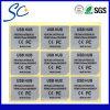 Etiquetas engomadas de plata mates modificadas para requisitos particulares alta calidad del pegamento de Removeable