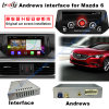Interfaccia di GPS dell'automobile di HD video di multimedia Android di percorso per 2014-2016 Mazda6 supporto Bt/WiFi/Mirrorlink