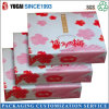 Rectángulo de empaquetado de papel de regalo de los rectángulos del rectángulo rosado clásico del alimento