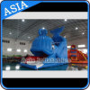 Belle glissière d'eau gonflable géante de baleine pour des jeux de syndicat de prix ferme d'eau