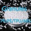 Masterbatch polipropileno gránulos de plástico blanco