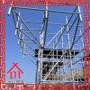Andamio de Q345 Ringlock con la prolongación del andén de acero/el sistema de acero de Ringlock del tablón/del andamio